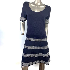 Anne Taylor Navy Bandage A Line Dress